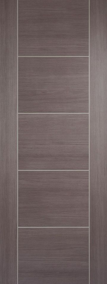 Medium Grey Laminated Vancouver Fire Door